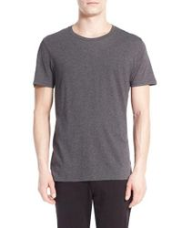 VINCE | Gray Crewneck T-shirt for Men | Lyst
