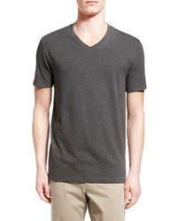 Vince | Black Pima Cotton V-neck T-shirt for Men | Lyst