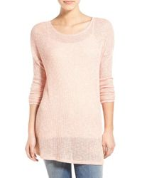 Volcom - Pink 'ready To Go' Crewneck Pullover - Lyst
