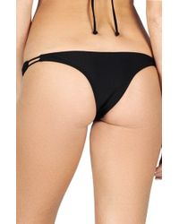 Volcom - Black 'simply Solid' Bikini Bottoms - Lyst