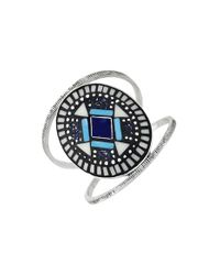 Vince Camuto | Multicolor 'drama' Mosaic Cuff - Midnight Blue/ Ivory/ Silver | Lyst
