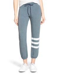 Sundry - Blue Stripe Detail Drawstring Sweatpants - Lyst