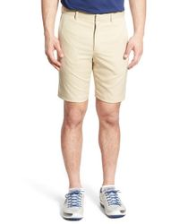 Bobby Jones | Natural 'tech' Flat Front Wrinkle Free Golf Shorts for Men | Lyst
