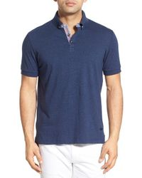Stone Rose - Blue Cotton Jersey Polo for Men - Lyst