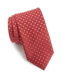 Canali - Red Floral Medallion Silk Tie for Men - Lyst