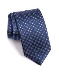 Canali | Blue Dots Silk Tie for Men | Lyst