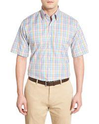 Peter Millar - Blue 'pop Pinwheel' Regular Fit Check Sport Shirt for Men - Lyst