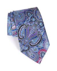 Ermenegildo Zegna | Blue Paisley Silk Tie for Men | Lyst