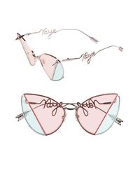 41ac6fc35802 Lyst - Gentle Monster X Kye Hate 58mm Cat Eye Sunglasses in Pink