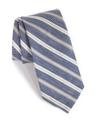 Maker & Company - Gray Stripe Silk & Linen Tie for Men - Lyst