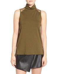 1.STATE - Green High Neck Tank - Lyst