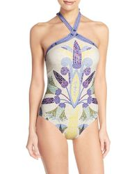 Tory Burch - Multicolor Mosaic Print One-piece Swimsuit - Lyst