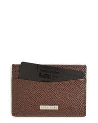BOSS - Black 'signature' Leather Card Case - Lyst