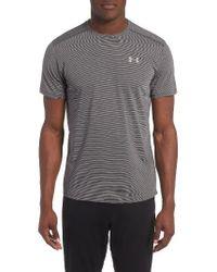 Under Armour | Gray 'streaker Run' Microthread T-shirt for Men | Lyst