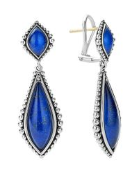 Lagos | Blue 'contessa' Semiprecious Double Drop Earrings | Lyst