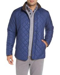 Peter Millar | Blue Norfolk Water Resistant Quilted Jacket for Men | Lyst