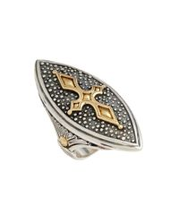 Konstantino | Metallic 'hebe' Marquise Cross Ring | Lyst