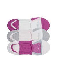 Zella - Multicolor 3-pack Low Profile Socks, Grey - Lyst