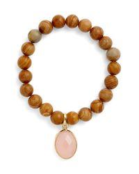 Elise M - Brown 'mumbai' Wood Beaded Bracelet - Lyst