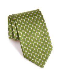 Ferragamo | Green Rabbit Print Silk Tie for Men | Lyst