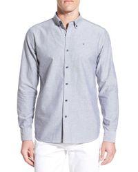 Victorinox - Blue Victorinox Swiss Army 'vogelberg' Slim Fit Oxford Sport Shirt for Men - Lyst