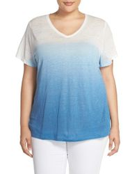 Two By Vince Camuto - Multicolor Dip Dye Linen Tee - Lyst