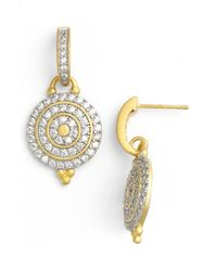 Freida Rothman | Metallic 'etoile' Pave Drop Earrings | Lyst