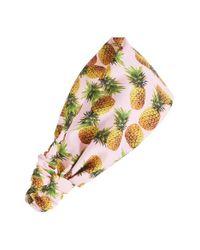 Cara | Multicolor Pineapple Print Head Wrap | Lyst