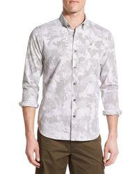 Victorinox - Blue 'sustenhorn' Slim Fit Camo & Dot Sport Shirt for Men - Lyst