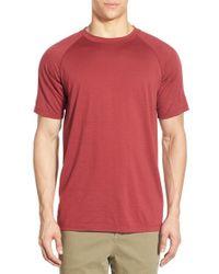 Ibex   Red 'w2 Sport' Merino Wool Jersey T-shirt for Men   Lyst