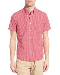 Relwen - Pink Classic Fit Check Short Sleeve Sport Shirt for Men - Lyst