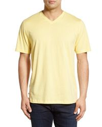 Cutter & Buck - Yellow 'sida' V-neck T-shirt for Men - Lyst
