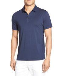 BOSS - Blue 'pressler' Slim Fit Jersey Polo for Men - Lyst