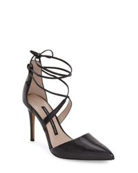 768c0e4490 French Connection Elise D'orsay Wraparound Lace Pumps in Black - Lyst