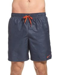 Nike - Purple 'core Camocean' Volley Swim Trunks for Men - Lyst