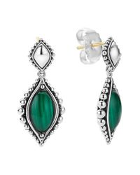 Lagos | Green 'contessa' Drop Earrings | Lyst