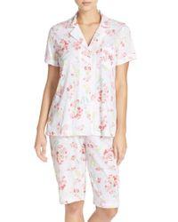 Lauren by Ralph Lauren | White Print Bermuda Short Pajamas | Lyst