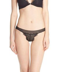 Free People | Brown Slow Dance Lace Bikini Briefs | Lyst