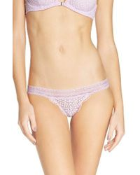 Free People   Purple Slow Dance Lace Bikini Briefs   Lyst