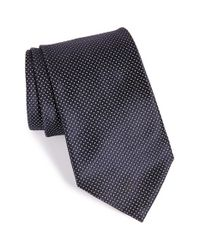 Armani | Blue Fleck Print Silk Tie for Men | Lyst