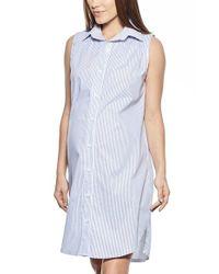 Imanimo | Blue Button Down Maternity Shirtdress | Lyst
