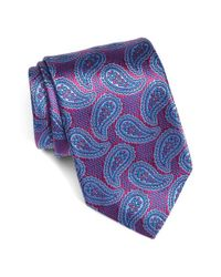 David Donahue | Blue Paisley Silk Tie for Men | Lyst