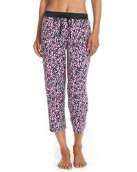 DKNY | Purple Print Capri Pajama Pants | Lyst