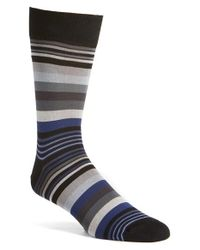 Bugatchi | Gray 'deconstructed Rugby Stripe' Socks for Men | Lyst