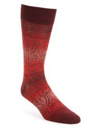 Bugatchi | Red Mercerized Cotton Blend Socks for Men | Lyst