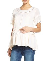 Fillyboo - Multicolor 'wild At Heart' Maternity/nursing Top - Lyst