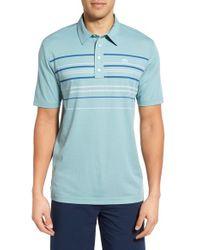 Travis Mathew - Blue 'keel' Stripe Pima Cotton Jersey Golf Polo for Men - Lyst