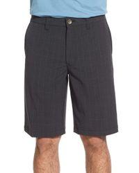 Travis Mathew - Black 'cahill' Wrinkle Resistant Hybrid Stretch Shorts for Men - Lyst
