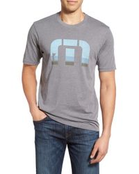 Travis Mathew - Gray 'cj' Graphic T-shirt for Men - Lyst