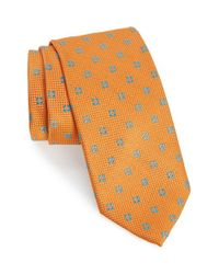 Robert Talbott | Orange Medallion Silk Tie for Men | Lyst